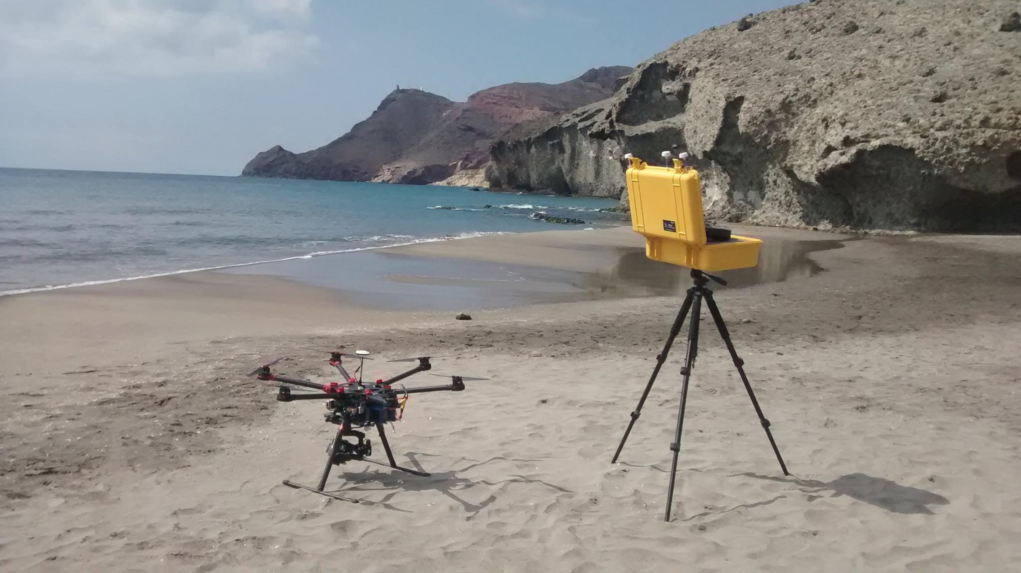 Grabaciones aéreas con drones en la playa