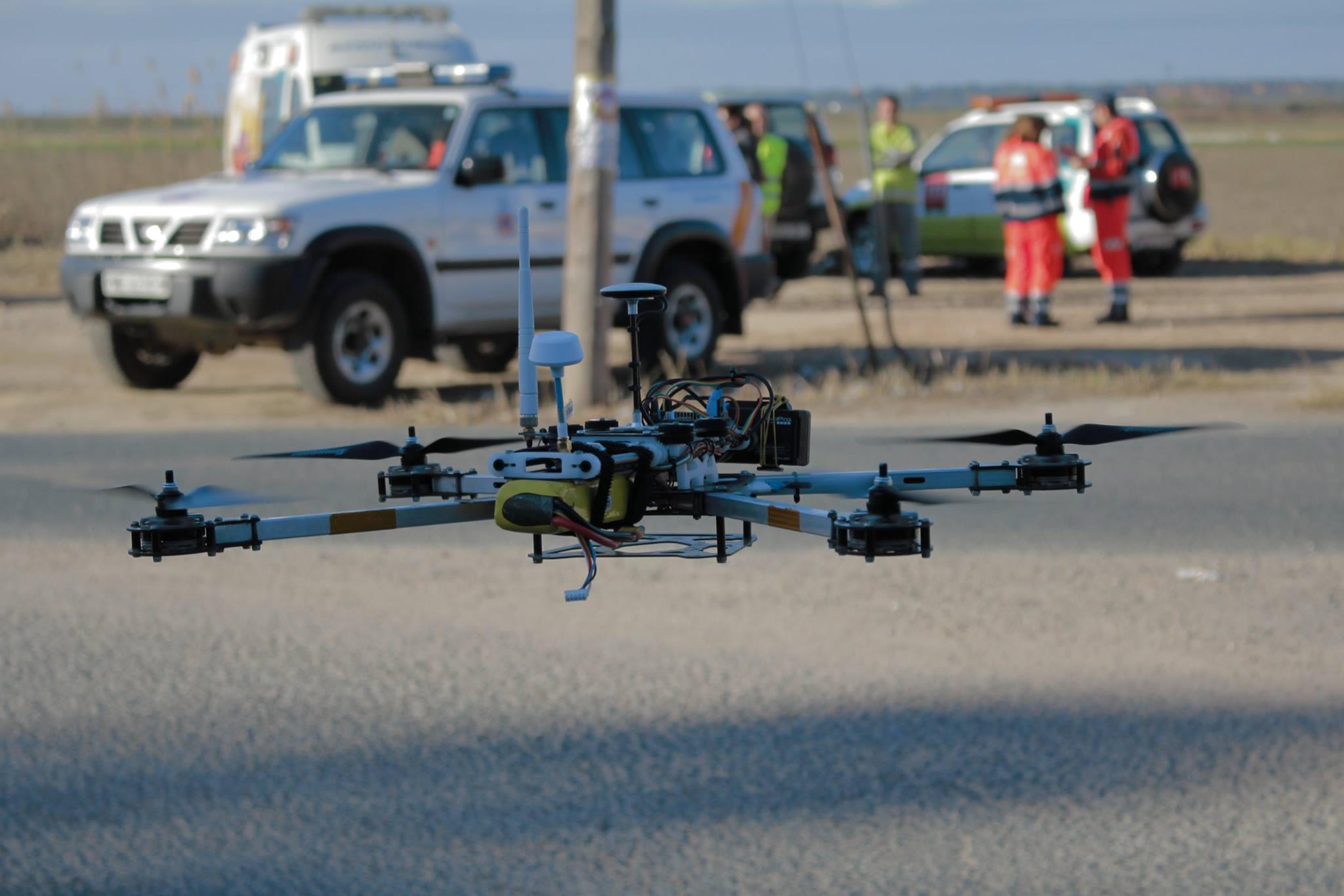 uso de drones en casos de emergencias - Puebla del Río