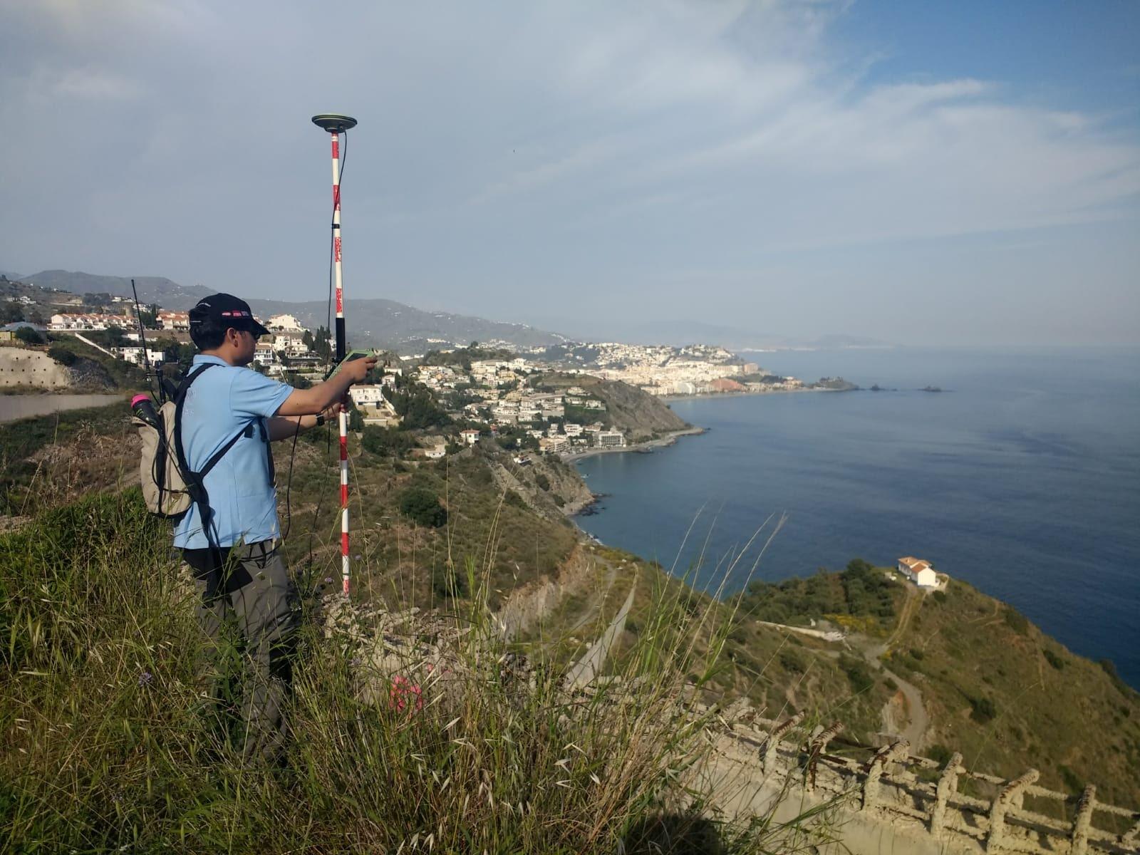 fotografía toma de puntos se realizo con GPS diferencial RTK