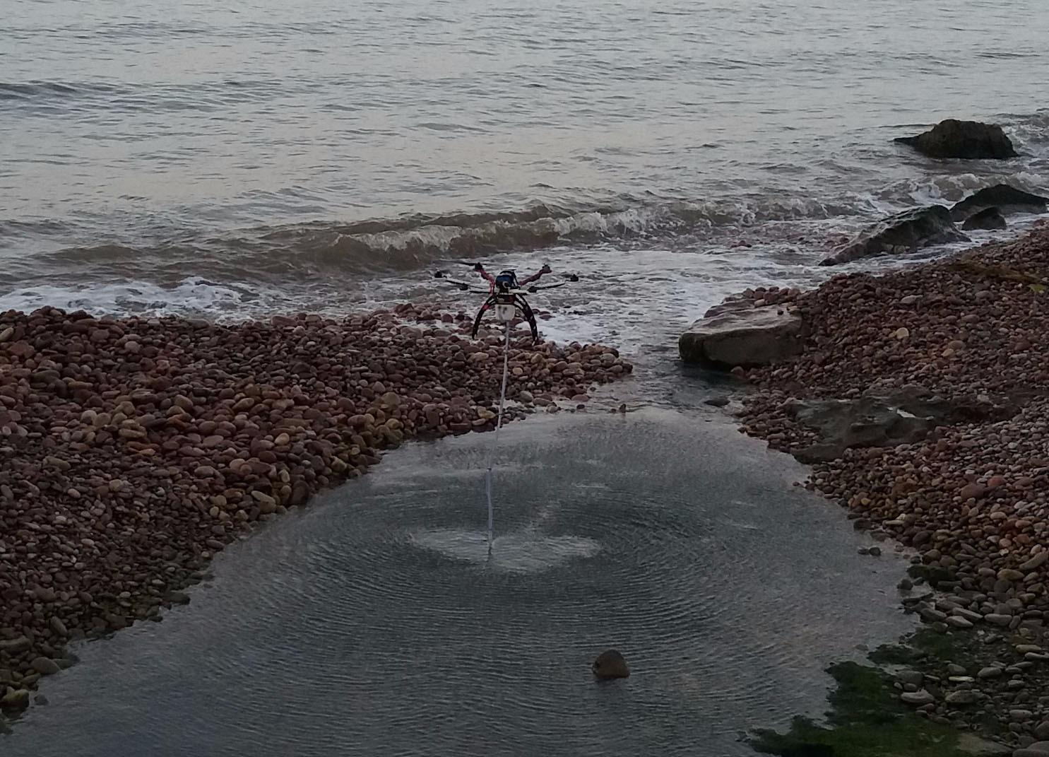 drone recogidas de muestras de agua