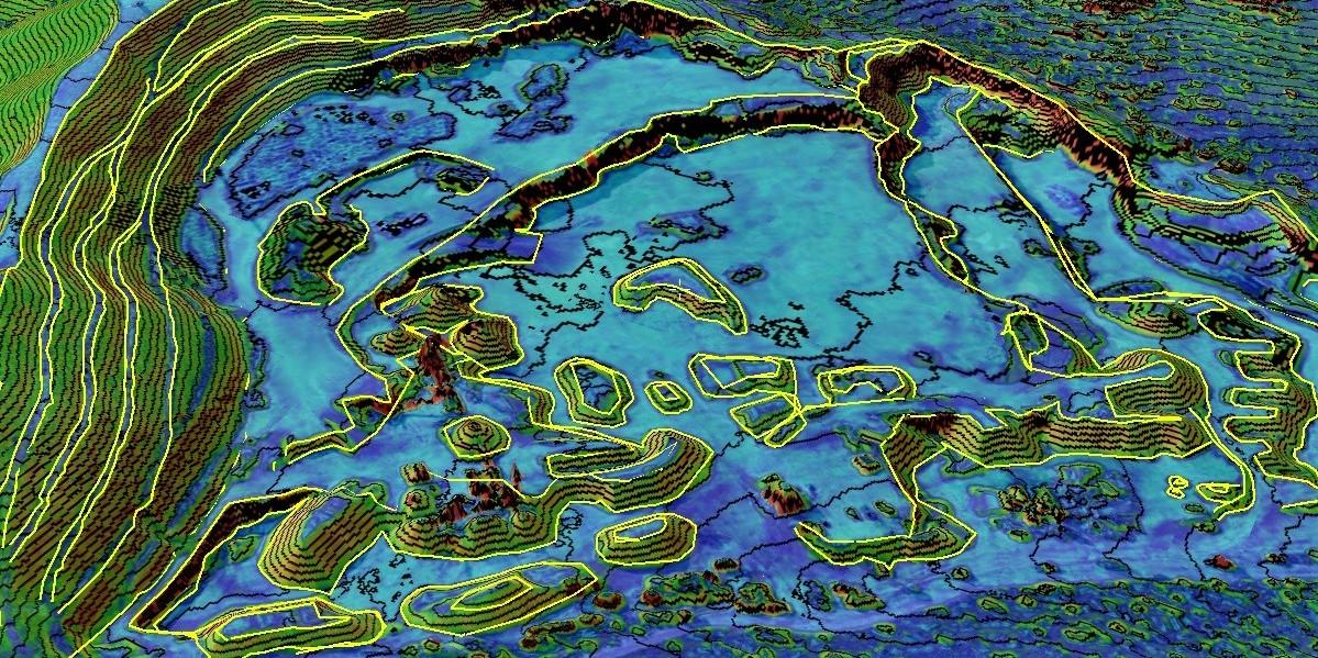 Mapa de inclinaciones