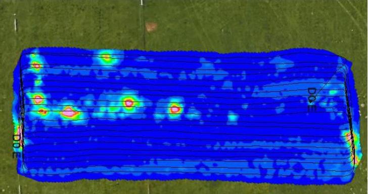 imagen con dron magnetrometros