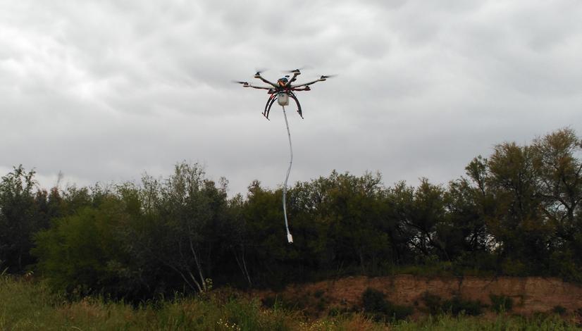 drones para recogidas de muestras de agua